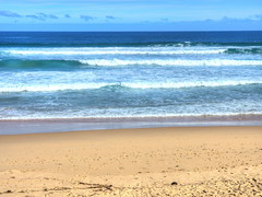 Waves of peace and tranquility! (Digidoc2) Tags: waves ocean sand beach water shore seashore coastline surf landscape sky clouds blue tranquility beauty australia woolami