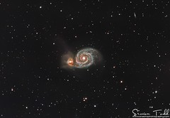 M51 Whirlpool Galaxy in LRGB (Simon Todd Astrophotography) Tags: m51 whirlpoolgalaxy ursamajor ngc5194 deepspace astronomy astrophotography ukastronomy space longexposure skywatcher eq8pro qhyccd qhy183m qhy5lii coldmos baader starlightxpress galaxies galaxy spiral quattro newtonian reflector astroimaging