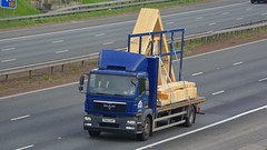 PN62 UWP (panmanstan) Tags: man tgm wagon truck lorry commercial flatbed rigid freight transport vehicle a1m fairburn yorkshire