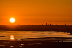 Sunset over Liverpool, from Frodsham Hill, Cheshire (ianbonnell) Tags: liverpool mersey merseyside frodsham cheshire sunset