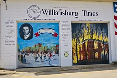 Williamsburg Times, Williamsburg, OH (Robby Virus) Tags: williamsburg ohio oh times newspaper mural journalism street art building american flag