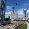 How low can you go? (D70) Tags: samsung smg900w8 ƒ22 48mm 11456 40 panorama stitched beresfordstreet burnaby bc canadaburnaby canada translink metrotown station 136365 silver construction progress may 15th 2018 crane building highrise excavation two luxury towers 41storeys 27storeys with 479 homes suntowers sun
