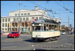 H1464-2018-04-08-1-Augustusplatz (steffenhege) Tags: leipzig lvb strasenbahn streetcar tram tramway pullmann historischertriebwagen 1464