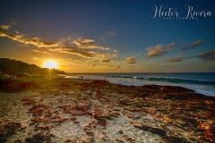 Sunset in Aguadilla ,Puerto Rico. (Hector A Rivera Valentin) Tags: sunset aguadilla puerto rico isla del encanto atardecer puestal sol sun sky beach playa