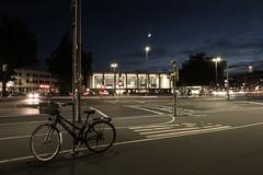 Night station (John fae Fife) Tags: streetlights fujifilmx moon lowlightphotography badenwürttemberg longexposure nightphotography night bicycle germany bahnhof xe3 lowlight headlights trainstation heidelberg