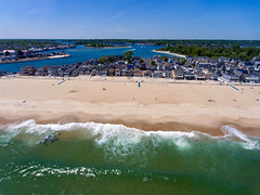 Manasquan Beach and the Atlantic Ocean, captured by a DJI Phantom 4 drone. (apardavila) Tags: atlanticocean djiphantom4 jerseyshore manasquan manasquanbeach manasquaninlet manasquanriver aerial beach beachfronthomes drone ocean sky waves
