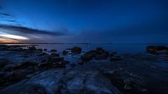 Dawn approaching (tonyguest) Tags: dawn approaching boön karlshamn blekinge sverige sweden sea rocks shoreline sunrise tonyguest stockholm night clouds scenic