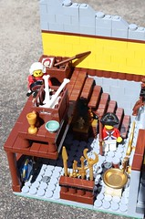 Spud's Home of Indigenous Antiquities (spud_the_viking) Tags: botbse2fb6 lego building 16x16 artefacts archaeology gold stone idols precious metals redcoats