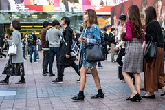 Mostly Jacket (burnt dirt) Tags: asian japan tokyo shibuya station streetphotography documentary candid portrait fujifilm xt1 laugh smile cute sexy latina young girl woman japanese korean thai dress skirt shorts jeans jacket leather pants boots heels stilettos bra stockings tights yogapants leggings couple lovers friends longhair shorthair ponytail cellphone glasses sunglasses blonde brunette redhead tattoo model train bus busstation metro city town downtown sidewalk pretty beautiful selfie fashion pregnant sweater people person costume cosplay bag denim blue black white