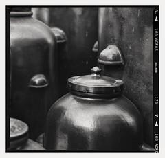 - Freilichtmuseum Hagen - (Andre Kurenbach) Tags: lowkey dark brewery brewer brewing beer clay jar analog caffenol acros neopan fujifilm fuji blackandwhite film 6x6 mediumformat 150mm zenzanon sqa zenzabronica