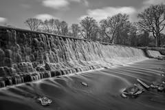 Big Stopping on a Saturday (gimmeocean) Tags: miltonlake waterfalls rahway newjersey nj bw blackandwhite mono le longexposure leebigstopper bigstopper 10stop