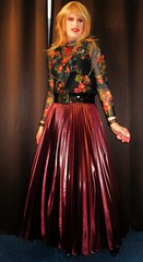 Mix and Match (Amber :-)) Tags: long aubergine sunray pleated skirt tgirl transvestite crossdressing
