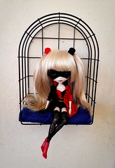 Harley Quinn outfit (Lunalila1) Tags: doll groove pullip naomi handmade outfit clothes cosplay harley quinn costura