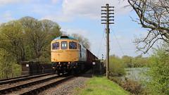 Crossing the Water. (Duck 1966) Tags: gcr 33035 crompton class33 emrps goods train diesel locomotive