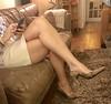MyLeggyLady (MyLeggyLady) Tags: hotwife sexy milf teasing secretary miniskirt stiletto pumps cfm crossed thighs legs heels