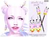 [ bubble ] Mochi Set (::: insanya ::: & [ bubble ]) Tags: secondlife bubble originalmesh accessories mesh earrings hairsticks decor limitededition exclusive limit8 mochi