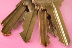 Jagged Brass (arbyreed) Tags: arbyreed brass keys teeth ridges jagged pink metal metallictextures close closeup