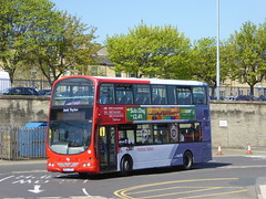 First West Yorkshire 37293 MX07 BTV Jack Taylor on 316, Huddersfield Bus Stn (sambuses) Tags: firstwestyorkshire holmevalleyconnection 308310314316324 37293 mx07btv jacktaylor