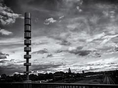 30.04.2014 stormy (FotoTrenz NRW) Tags: stormy clouds sky stürmig weather brücke city urban duisburg ruhrgebiet ruhrpott schwatzweis blackandwhite bw monochrome nrw