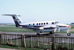 1979 Beech 200 Super King Air G-OGDN - Leeds/Bradford Airport 1983 (anorakin) Tags: beechcraft kingair beech digsw 1979 beech200 superkingair gogdn leedsbradfordairport 1983
