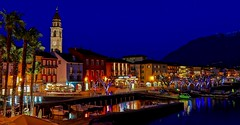 Blue hour in Ascona (sylviafurrer) Tags: ascona tessin ticino bluehour blauestunde night nacht hafen harbour switzerland coth5