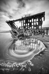 The Vortex of Peter Iredale (Joshua Johnston Photography) Tags: sonya7ii joshuajohnston landscapephotography nature oregon pacificnorthwest pnw oregoncoast blackandwhite bnw peteriredale shipwreck longexposure canonef1635mmf28liii