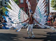 Wings (ep_jhu) Tags: shaw x100f classicchrome washington wings man guy fuji shirtless angel funkparade dc fujifilm performer districtofcolumbia unitedstates us