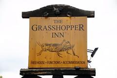 Pub sign for The Grasshopper Inn, Westerham. (Peter Anthony Gorman) Tags: pubsigns grasshopperinn westerham kentpubs