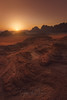 Landing in Mars (Javier de la Torre García) Tags: jordan desert wadi rum warm sunset mars orange red