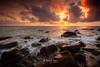 fiery fangshan (風傳影像) Tags: canon5dii fangshan gettyimages tainancity taiwan cloud danieldawn landscape rock sea seascape sky sunlight sunrisedawn sunset water