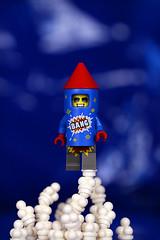 He's gonna go off! (Frost Bricks) Tags: lego minifigure cmf series 18 minifig firework firecracker rocket suit