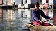 Biy by sunlight (Nagarjun) Tags: dallake weeds manure boats boatmen srinagar kashmir jk light dawn sunrise