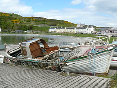 No more sailing (Michael JasonSmith) Tags: boat rathlinisland harbour town warf wreck