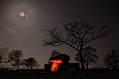 Dolmen with faked moon (ReppiX) Tags: astophotography astronomy dolmen urdolmen grossteingrab megalith night sky long moon mond prehistoric lightpainting
