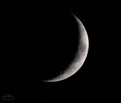 Moon 18th May 2018 Waxing Crescent 16% Illuminated (John R Woodward Photography) Tags: moon waxing crescent illuminated lunar lunartics llenses canon canondslr canoneos canonllenses canon5dmarkiv