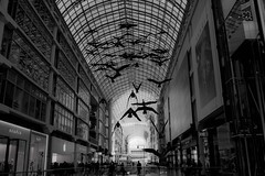 Toronto Eaton Centre (SONICGREGU) Tags: shoppingmall blackandwhite bw nikond610 fullframe nikon 35mm downtown canada ontario toronto eatoncentre torontoeatoncentre