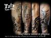 201805161 (tatzstudio) Tags: tatz tattoo studio hongkong hk tsimshatsui tst kowloon tattoos shop half sleeve lion eagle roses black grey