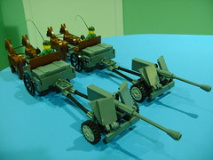 DSC00116 (TekBrick) Tags: custom lego ww2 german horse buggy canon pak40 crate shell whip horses soldier moc brick