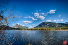 At Vermilion Lakes (Kasia Sokulska (KasiaBasic)) Tags: canada alberta rockies banff np vermilion lakes spring landscape lake water mountains nature exploring sky clouds