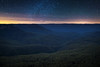 Jamison Valley Stars || BLUE MOUNTAINS || AUSTRALIA (rhyspope) Tags: australia aussie nsw new south wales blue mountains katoomba leura wentworthfalls rhys pope rhyspope canon 5d mkii sky night dark jamison valley sydney view vista nature mountain travel explore stars
