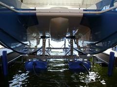 6600 UL2, CAT boat on a HydroHoist boat Lift