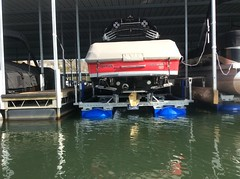 6600 UL2, 24ft Supra on a HydroHoist boat Lift