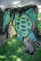 Lift Up Yuh Head An Hold It Up High (Anthony Mark Images) Tags: grass stump woodcarving art turtle headless dontlooseyourhead behappy dontworry holdupyourhead montegobay mobay jamaica westindies caribbean chill sundaylights