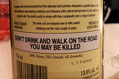 Health Warning (RobW_) Tags: back label health warning art redtinroof guest house riebeek kasteel swartland western cape south africa friday 09mar2018 march 2018