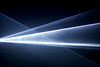 Light beams in dark space (Wilamoyo) Tags: objectsabstract light lazer beam bright dark black shapes triangles abstracts