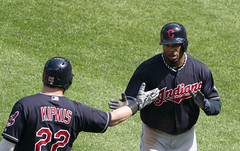 Rajai Davis (Keith Allison) Tags: mlb baseball orioleparkatcamdenyards rajaidavis clevelandindians