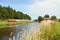 DB BR218 495-0 met IC2085 te Ruderatshofen, 15-08-17 (Daniël de Ruig) Tags: ruderatshofen br218 db deutschland deutschebahn intercity ic oberstdorf augsburg