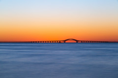 Golden Hour (Bob90901) Tags: goldenhour longisland newyork civiltwilight longexposure summer greatsouthbay robertmosescauseway rpg90901 water sky sunrise morning bay bridge dawn bergenpoint westbabylon minimalism canon 6d canonef70200mmf28lisiiusm canon70200f28lll filter neutraldensity lee bigstopper nd10 nd 2016 september 0628