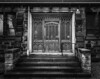 Drakus' Entrance (michaelwalker19) Tags: elegant door dark ominous blackandwhite blackandwhitechurch churches