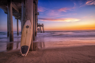 Sunset in Surf City USA
